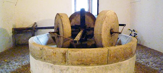 オリーブオイルの伝統的圧搾法による搾油