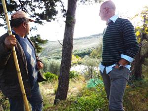 農園主のマヌエルさんと管理者ドメニコさん