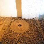 17世紀の圧搾機の跡