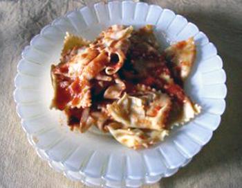 リコッタチーズが入ったラビオリ