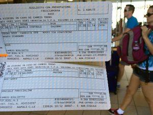 ナポリ_サレルノ_イタリア国鉄切符
