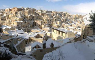 大雪のマテーラ