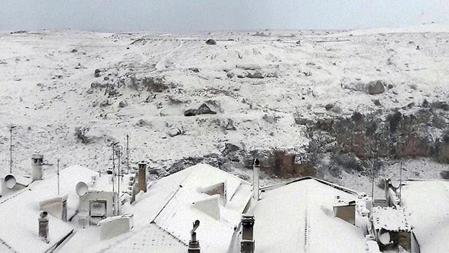 マテーラの大雪