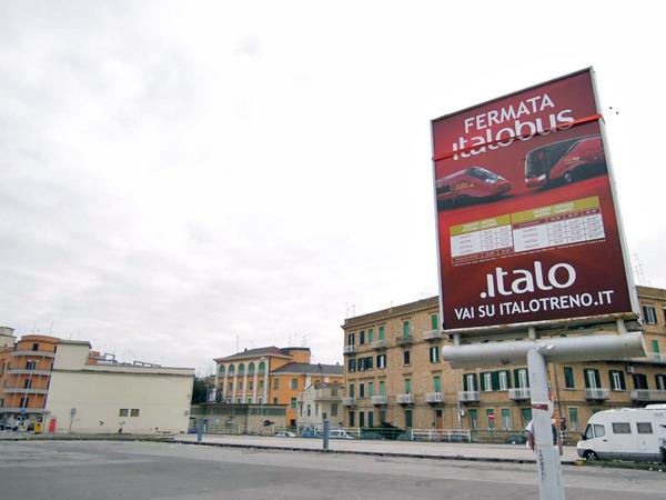 イタロ バス停留所 マテーラ
