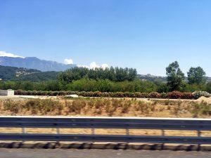 サレルノ、ポテンツァ間の車窓の景色