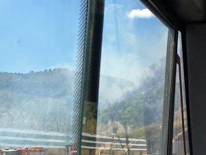 サレルノ付近の山火事